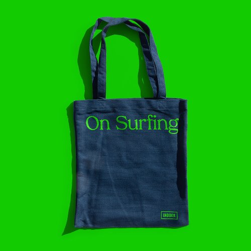 [Indoek]On Surfing Hemp Tote Bag (서핑 문화)(서핑 가방)