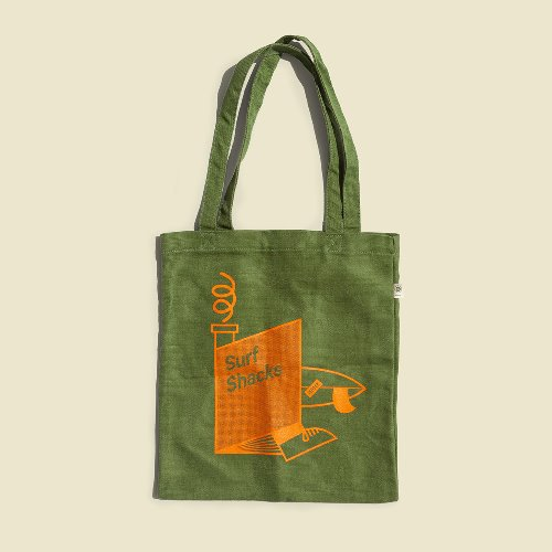 [Indoek]Surf Shacks Hemp Tote Bag (서핑 문화)(서핑 가방)
